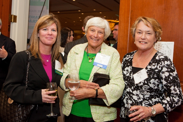 Sue Barnicle, Maddy Corson, and Althea Bennett McGirr enjoy a get -together